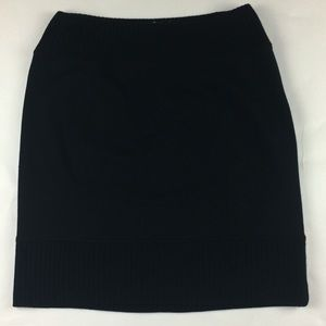 Free People black skirt size medium sweater trim